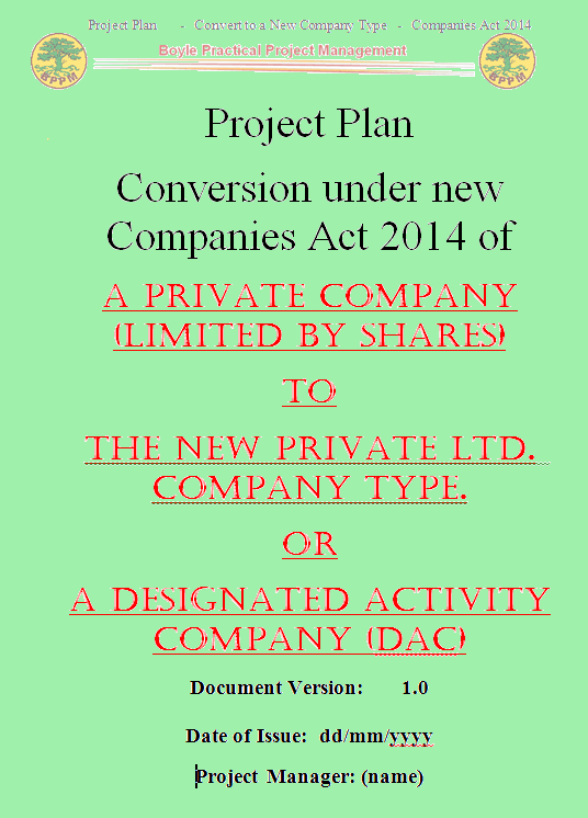 Companies Act 2014 Implementation Plan